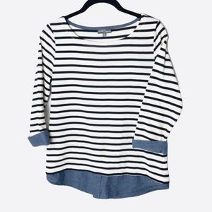 Market & Spruce striped 3/4 sleeves top